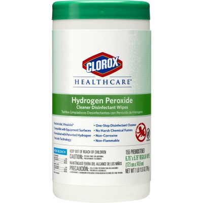 """Clorox 30825 Healthcare Hydrogen Peroxide Cleaner Disinfectant Wipes, Premoistened, 6.75"""" x 5.75"""" - 930 / Case"""