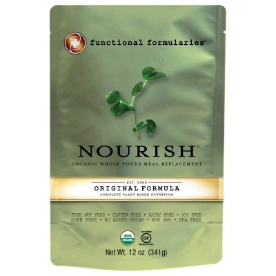 Functional Formularies NWS124 Nourish Pediatric Oral Supplement, Vegetable / Rice Flavor, 12 oz Pouch - 24 / Case