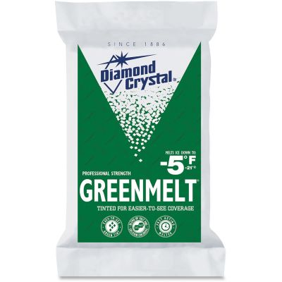 Garland C Norris 11598 Diamond Crystal Greenmelt Tinted Ice Melt, 50 lb Bag - 1 / Case