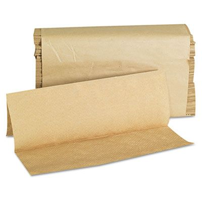 "General 1508 GEN Multifold Paper Hand Towels, 9"" x 9-9/20"", Brown - 4000 / Case"