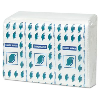 General 15X17DIN 2 Ply Paper Dinner Napkins, White - 3000 / Case