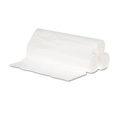 """GEN 242306 10 Gallon Garbage Bags / Trash Can Liners, 6 Mic EQ, 24"""" x 23"""", Natural - 1000 / Case"""