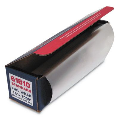 "General 7116 Aluminum Foil Roll, Standard, 18"" x 1000' - 1 / Case"