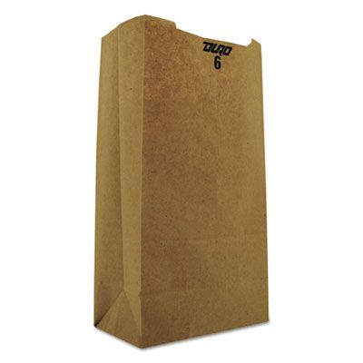 "General GK6 6 lb Paper Grocery Bags, 35#, 6"" x 3-5/8"" x 11-1/16"", Kraft - 2000 / Case"