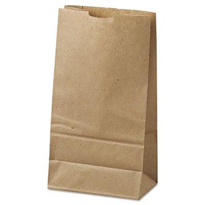 "Duro GK6500 6 lb Paper Grocery Bags, 35#, 6"" x 3-5/8"" x 11-1/16"", Kraft - 500 / Case"