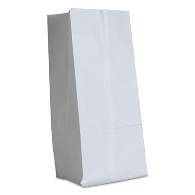 "General GW16500 16 lb Paper Grocery Bags, 40#, 7-3/4"" x 4-13/16"" x 16"", White - 500 / Case"