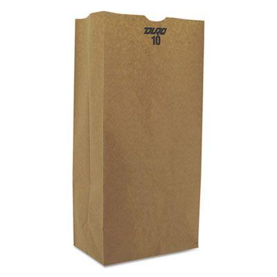 "General GX10500 10 lb Paper Grocery Bags, 57#, 6-5/16"" x 4-3/16"" x 13-3/8"", Kraft - 500 / Case"