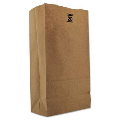 "General GX2060 20 lb Paper Grocery Bags, 57#, 8-1/4"" x 5-5/16"" x 16-1/8"", Kraft - 500 / Case"