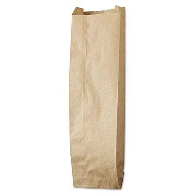 """GEN LQQUART500 Quart Paper Liquor Bags, 35#, 4.25"""" x 2.5"""" x 16"""", Kraft - 500 / Case"""