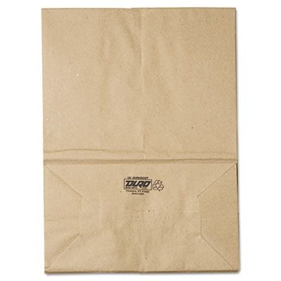 "Duro SK1657 1/6 Bbl Paper Grocery Bags / Sacks, 57#, 12"" x 7"" x 17"", Kraft - 500 / Case"