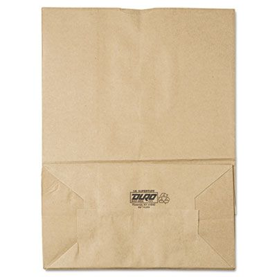 "General SK1675 1/6 Bbl Paper Grocery Bags / Sacks, 75#, 12"" x 7"" x 17"", Kraft - 400 / Case"