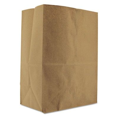 "General SK1852 1/8 BBL Paper Grocery Bag, 52 Lb Kraft, Standard, 10-1/8"" x 6-3/4"" x 14-3/8"", 500 Bags / Case"