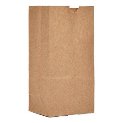 "General GK1500 1 lb Paper Grocery Bags, 30#, 3-1/2"" x 2-3/8"" x 6-7/8"", Kraft - 500 / Case"