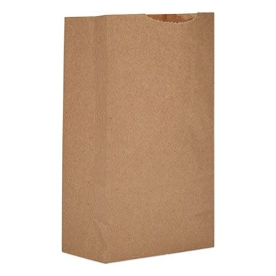 "General GK3500 3 lb Paper Grocery Bags, 30#, 4-3/4"" x 2-15/16"" x 8-9/16"", Kraft - 500 / Case"