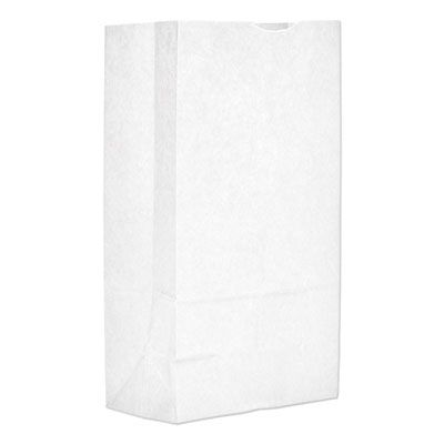 "General GW12 12 lb Paper Grocery Bags, 35#, 7-1/16"" x 4-1/2"" x 12-3/4"", White - 1000 / Case"