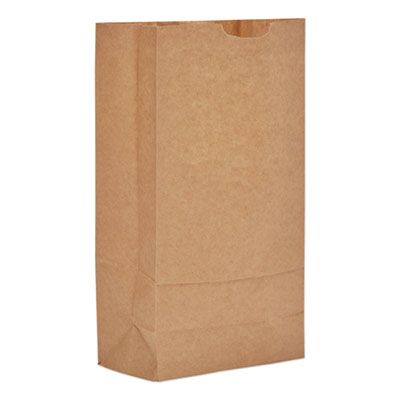 "General GX10500 10 lb Paper Grocery Bags, 57#, 6-5/16"" x 4-3/16"" x 13-3/8"", Kraft - 500 / Case"
