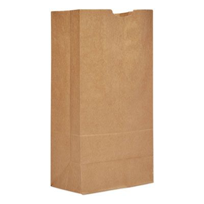 "General GX2060 20 lb Paper Grocery Bags, 57#, 8-1/4"" x 5-5/16"" x 16-1/8"", Kraft - 500 / Case"