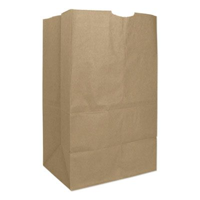"General GX2060S 20 lb Squat Paper Grocery Bags, 57#, 8-1/4"" x 5-5/16"" x 13-3/8"", Kraft - 500 / Case"