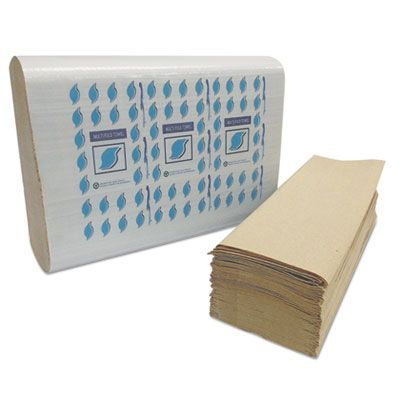 """General MF4001K Multifold Paper Hand Towels, 1 Ply, 9"""" x 9"""", Brown - 4008 / Case"""