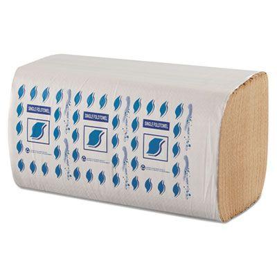 """General SF5001K GEN Singlefold Paper Hand Towels, 1 Ply, 9"""" x 9-1/4"""", Brown - 4008 / Case"""