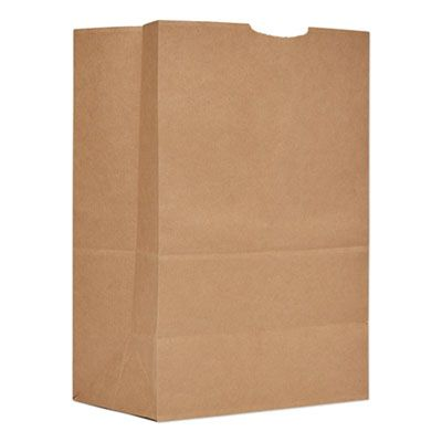 "General SK1657 1/6 Bbl Paper Grocery Bags / Sacks, 57#, 12"" x 7"" x 17"", Kraft - 500 / Case"