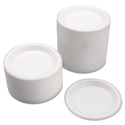 "Genpak 80700 Celebrity 7"" Foam Plates, White - 1000 / Case"