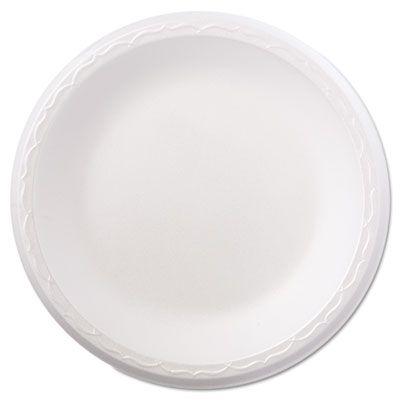 """Genpak 80900 8.88"""" Foam Plates, White - 500 / Case"""