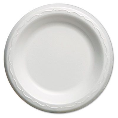 "Genpak LAM06 6"" Elite Laminated Foam Plates, White - 1000 / Case"