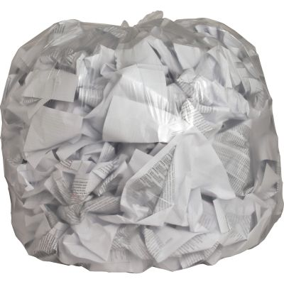 "Genuine Joe 1015 40-45 Gallon Trash Can Liners / Garbage Bags, 0.6 Mil, 40"" x 46"", Clear - 250 / Case"