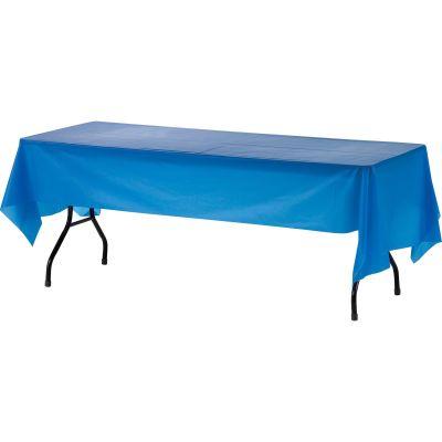 "Genuine Joe 10325 Plastic Table Covers, 54"" x 108"", Blue - 24 / Case"