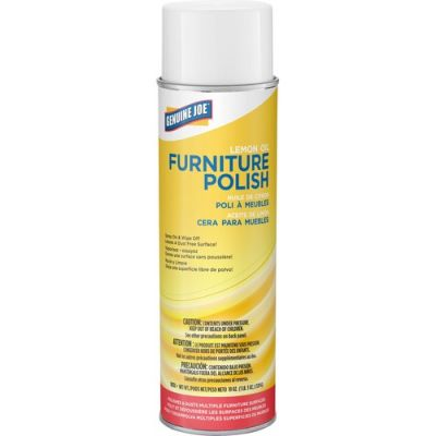 Genuine Joe 10351 Furniture Polish / Multi-Surface Cleaner, Lemon Scent, 17 oz Aerosol Spray Can - 12 / Case