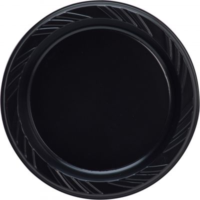"Genuine Joe 10427 6"" Plastic Plates, Black - 500 / Case"