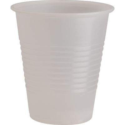 Genuine Joe 10435 12 oz Plastic Cold Cups, Translucent - 1000 / Case