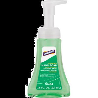 Genuine Joe 10494 Foaming Hand Soap, Fresh Floral Scent, 7.5 oz Pump Bottle - 12 / Case