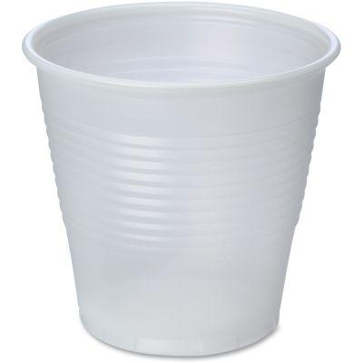 Genuine Joe 10500 5 oz Plastic Cold Cups, Translucent - 2500 / Case