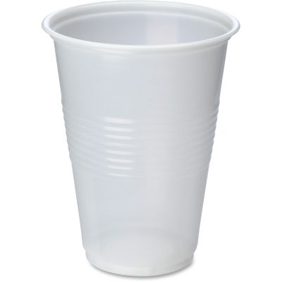 Genuine Joe 10501 16 oz Plastic Cold Cups, Translucent - 1000 / Case