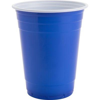 Genuine Joe 11250 16 oz Plastic Party Cups, Blue - 1000 / Case
