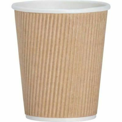Genuine Joe 11255 8 oz Ripple Paper Hot Cups - 125 / Case