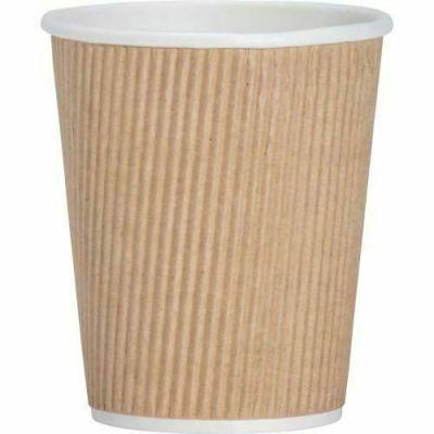 Genuine Joe 11255 8 oz Ripple Paper Hot Cups - 500 / Case