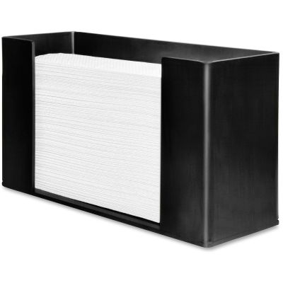 "Genuine Joe 11524 Dispenser for C- Fold, Multifold Paper Hand Towels, Acrylic, 11-1/2"" x 4-1/8"" x 6-3/4"", Black - 1 / Case"