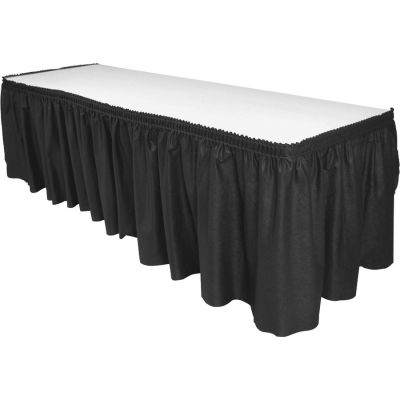 "Genuine Joe 11916 Table Skirting, 29"" x 14', Black - 1 / Case"