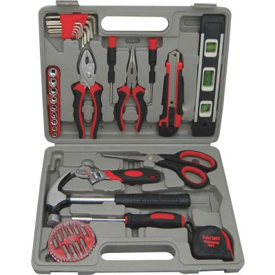 Genuine Joe 11963 Tool Kit, 42 Pieces in Gray Case - 1 / Case