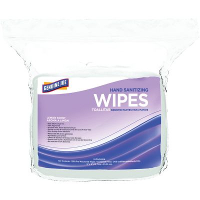 Genuine Joe 14146 Hand Sanitizing Wipes, Alcohol-Free - 4800 / Case