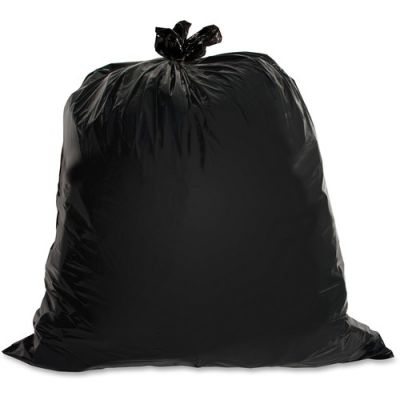 "Genuine Joe 01534 40-45 Gallon Trash Can Liners / Garbage Bags, 1.5 Mil, 39"" x 46"", Black - 50 / Case"