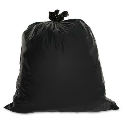 "Genuine Joe 1535 55-60 Gallon Trash Can Liners / Garbage Bags, 1.5 Mil, 39"" x 56"", Black - 50 / Case"
