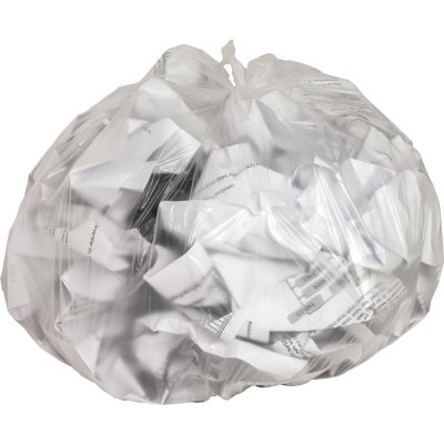 "Genuine Joe 1755 7-10 Gallon Trash Can Liners / Garbage Bags, 8 Mic, 24"" x 24"", Clear - 1000 / Case"