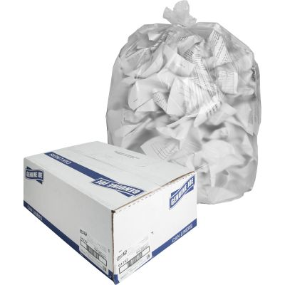 "Genuine Joe 1757 31-33 Gallon Trash Can Liners / Garbage Bags, High Density, 33"" x 40"", Clear - 500 / Case"