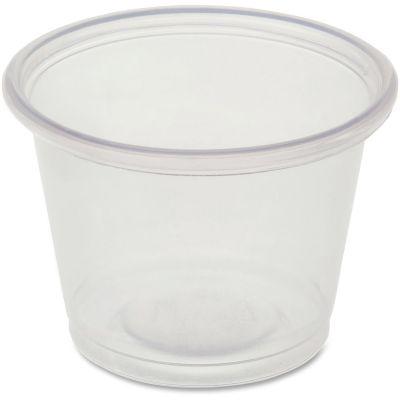 Genuine Joe 19060 1 oz Plastic Portion Cups, Polystyrene, Clear - 2500 / Case