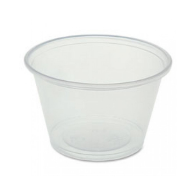 Genuine Joe 19067 4 oz Plastic Portion Cups, Polystyrene, Clear - 2500 / Case