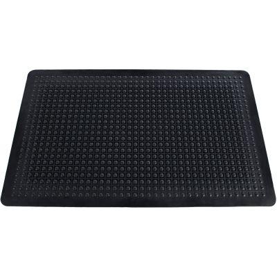 Genuine Joe 02146 Anti-Fatigue Floor Mat, Rubber, Beveled Edge, 2' x 3', Black - 1 / Case
